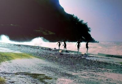Us Walking By The Seaside 2011